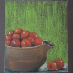 Bowl of cherry tomatoes Pastel,framed 24x25cm £65