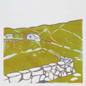 Connemara I -limited edition lino print. Framed £135