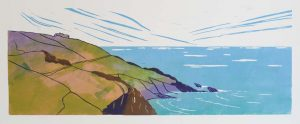 As I walked down to Zennor Cove – limited edition lino print. Framed £175